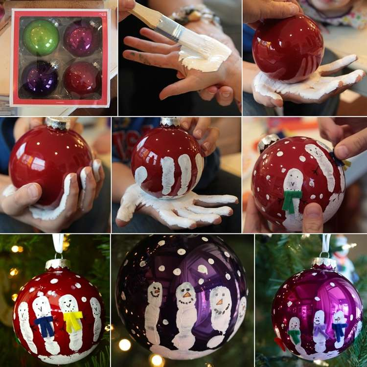 Stunning Handprint Snowmen Ornaments to Decorate Your ...