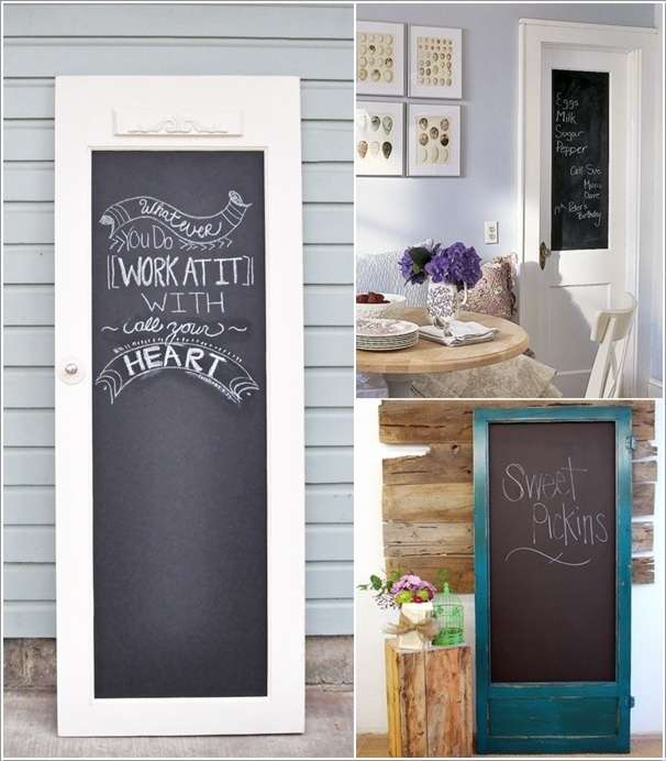 10 awesome ideas to reuse old doors and giving them a for Recycled interior doors