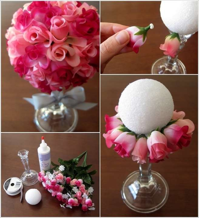 Easy to Make Flower Ball Bouquet for You to Try