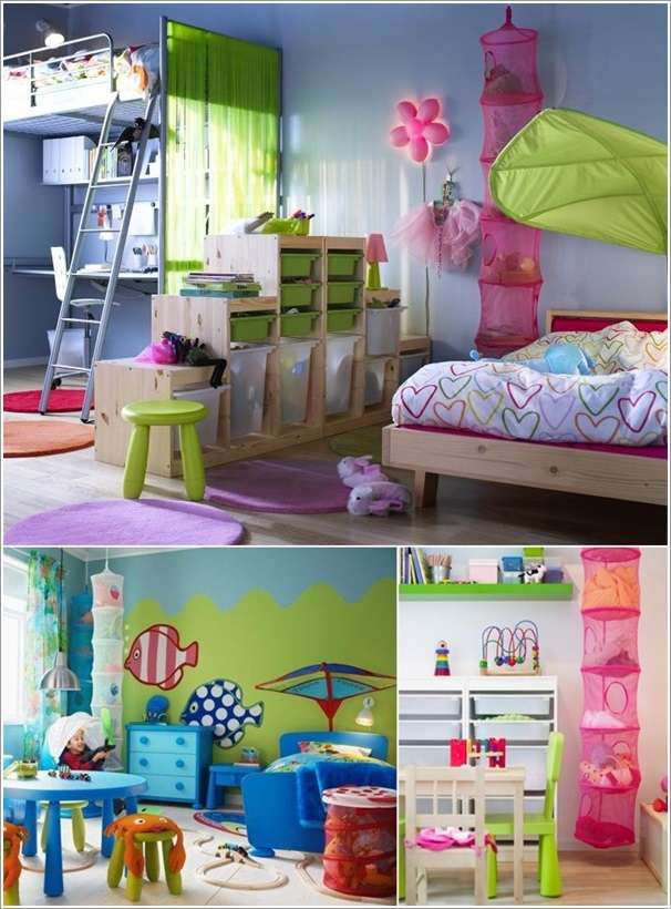 10 smart storage solutions for your kids room for Storage solutions for toys small rooms