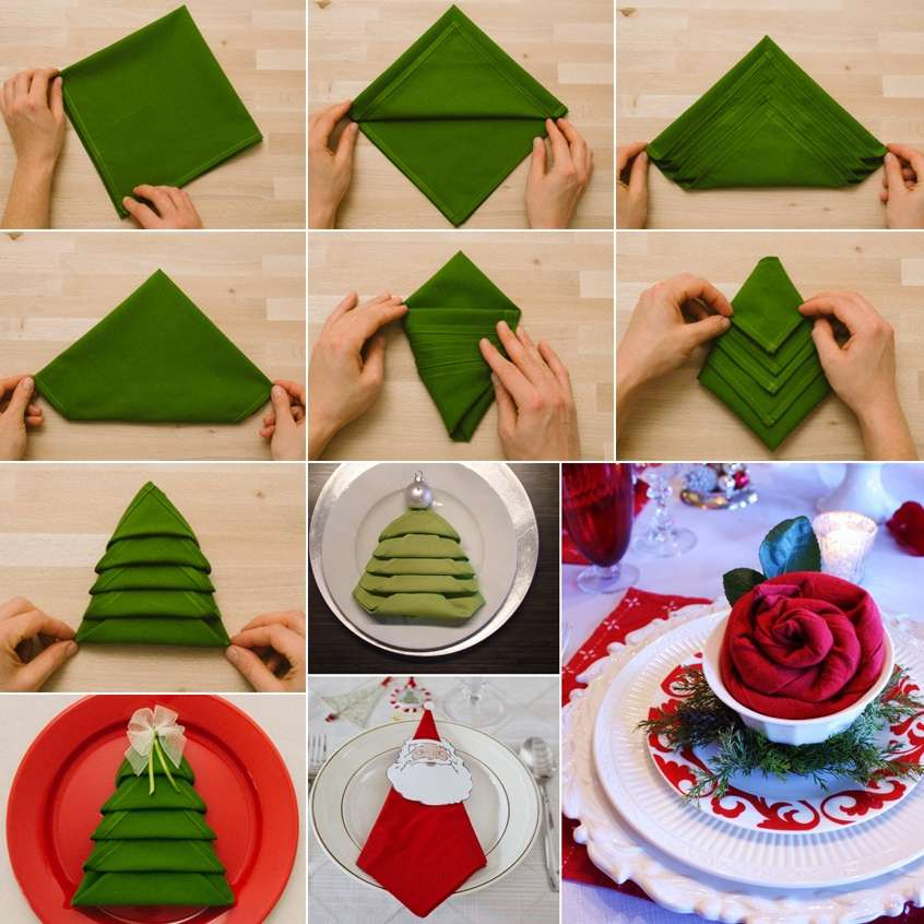 10 festive napkin decor ideas for the christmas
