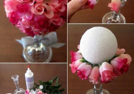 Красивые шары из цветов своими руками