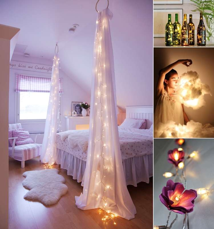 String Lights For Bedroom Diy : 10 Amazing String Lights DIY Decorating Ideas