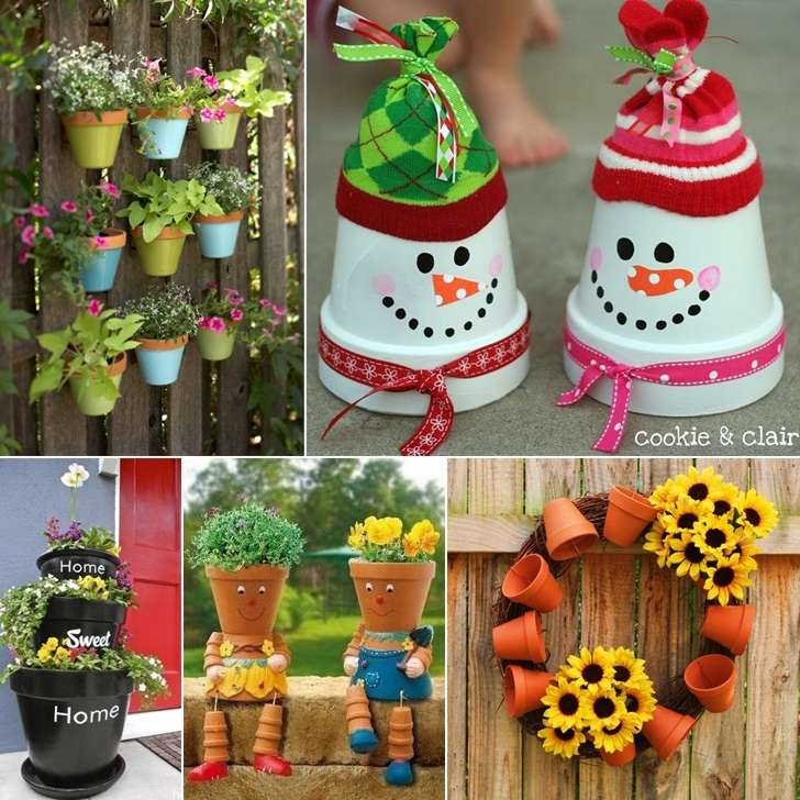 10 awesome decoration ideas with clay pots - Decorating garden pots ideas ...