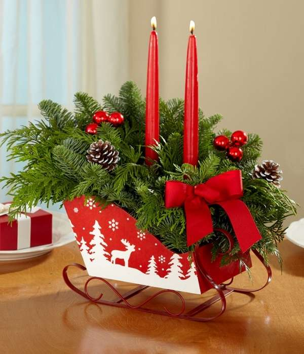 Home Design Ideas For Christmas: Santa Sleigh Decor Can Be Simple, Inexpensive And Fun