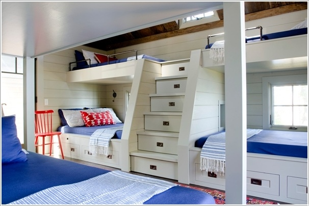 Built in Bunk Bed Kids Rooms with Clever