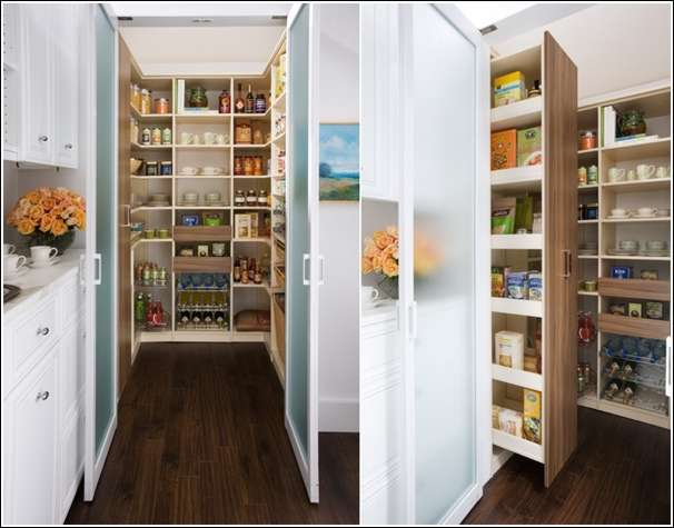5 cool and creative kitchen pantry designs for Walk in pantry