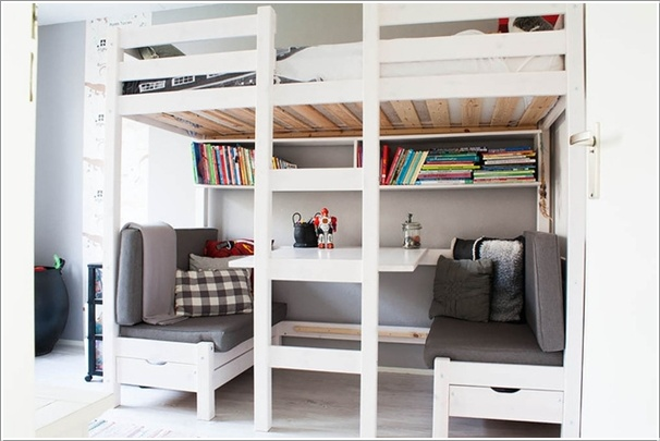 10 Built in Bunk Bed Kids Rooms with