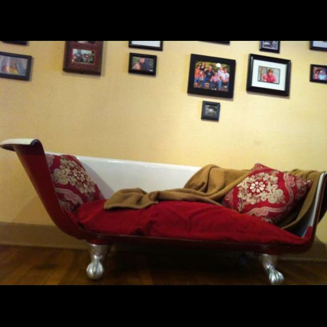 Red Claw Foot Tub Sofa