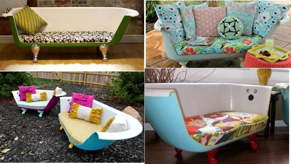 Upcycled Claw Foot Tub Sofa