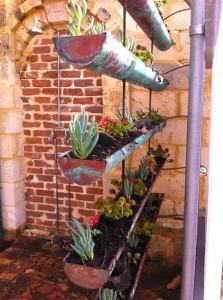 Upcycled Gutter Garden
