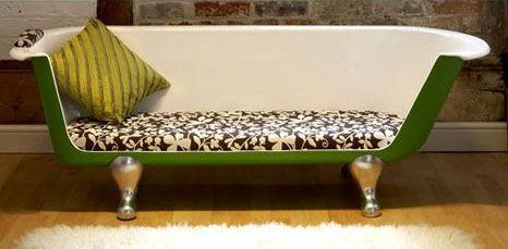 Upcycled Claw Foot Tub Sofa
