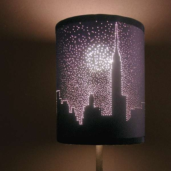 A Simple Lampshade Got This New Look by Poking Pins