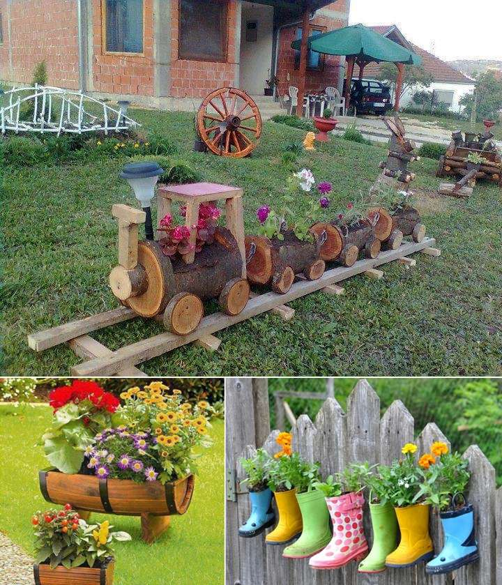 5 cool planter ideas for your garden to welcome spring for Garden planter ideas