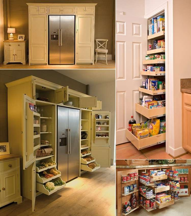 5 cool and creative kitchen pantry designs Organizing home