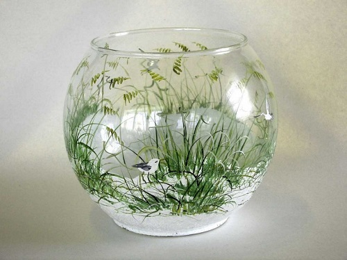 Glass paint ideas can be turned into a fun pastime for Pictures painted on glass