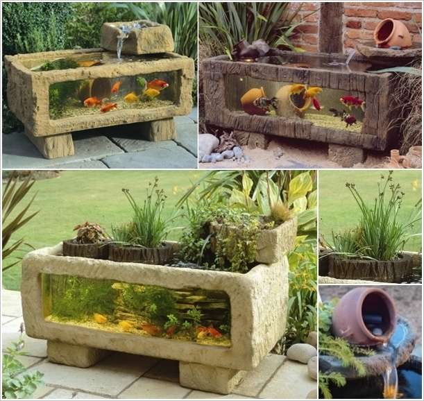 5 outdoor aquarium designs that will bring life to your for Diy patio pond