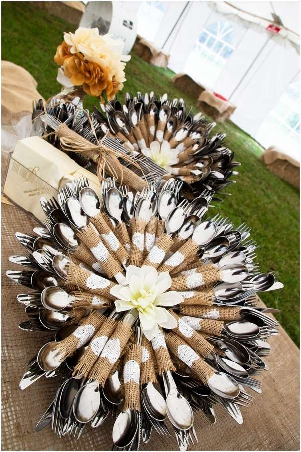 5 Awesome Cutlery Display Ideas For Wedding Table Decor