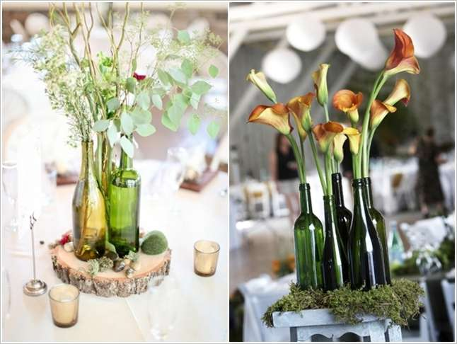 3 Wine Bottle Vases