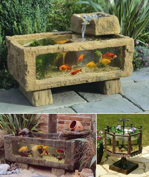 5 outdoor aquarium designs that will bring life to your for Balcony koi pond