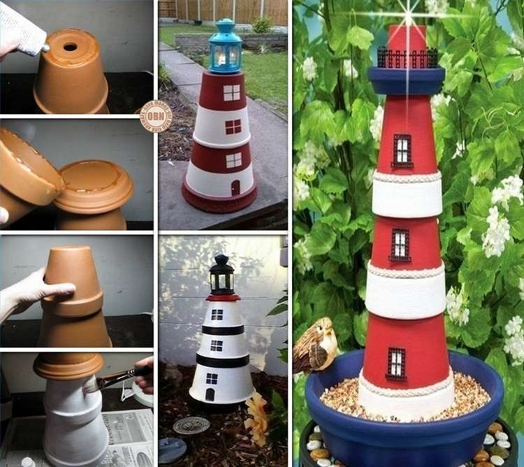 This Easy To Craft Clay Pot Lighthouse Is Such A Fantastic