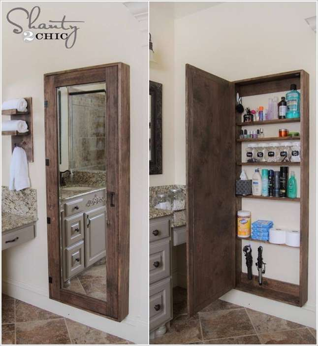 Awesome diy bathroom mirror cabinet for some extra storage space - Make cabinet scratch extra storage space ...