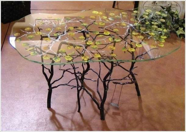 5 spectacular coffee table painting ideas that you 39 d like for Best glass painting designs