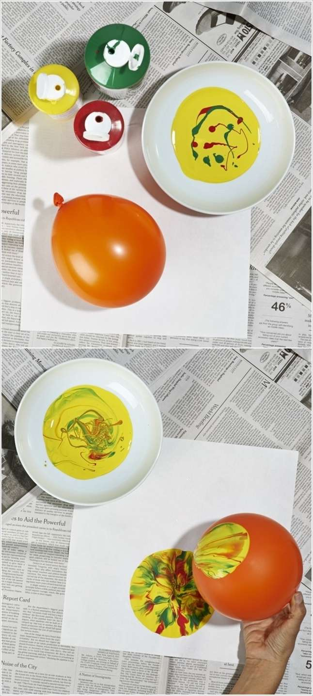 This Balloon Stamp Painting Is A Great Activity To Try