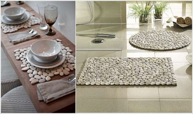 Try a river stone mat for your home for River stone doormat
