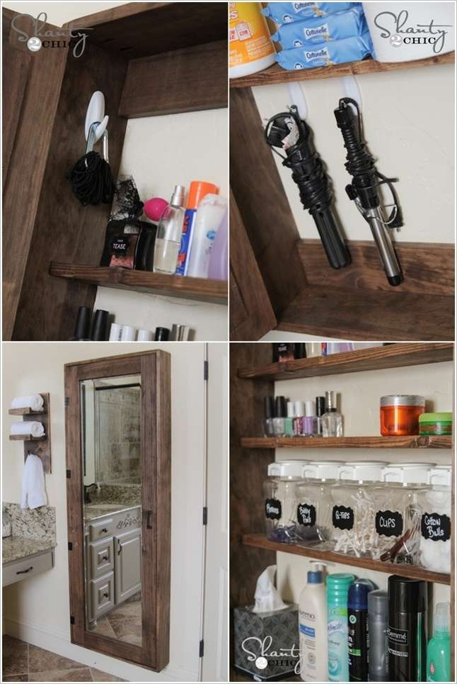 Awesome DIY Bathroom Mirror Cabinet for Some Extra Storage Space