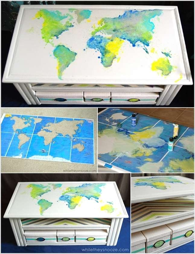5 spectacular coffee table painting ideas that you 39 d like for Coffee painting ideas