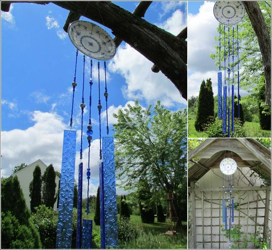 5 awesome ideas to recycle old china plates for home decor for Wind chime design ideas