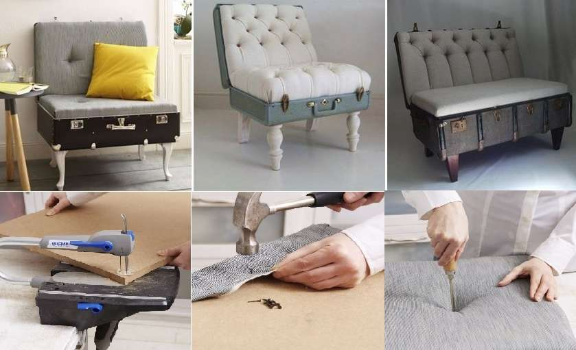 DIY fortable Lounge Chair from Old Suitcase