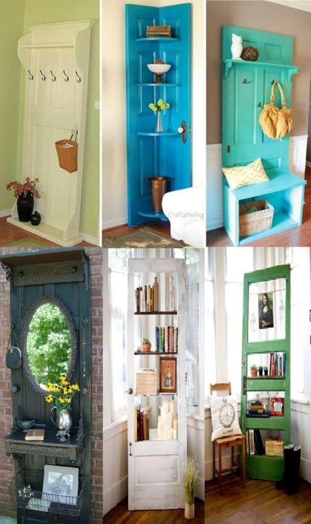 Amazing interior design 6 re purposed door ideas