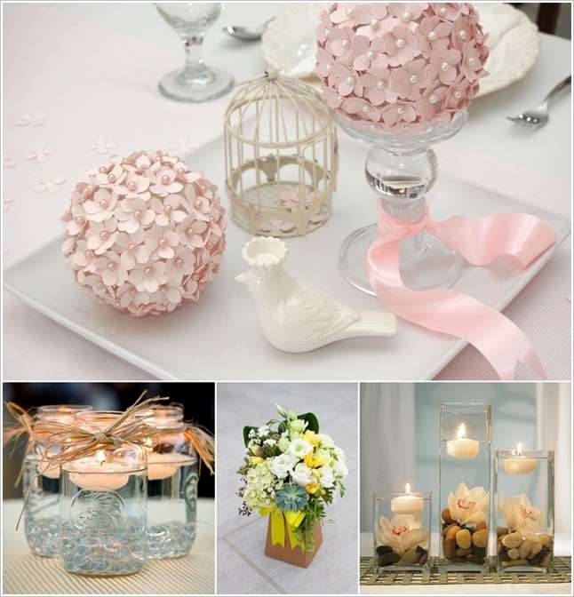 Budget friendly and easy bridal shower centerpiece ideas