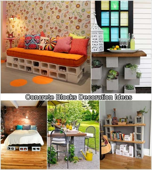 10 Spectacular Ideas To Decorate With Concrete Blocks