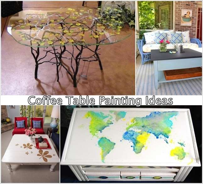 Painted coffee table ideas Rustic Are You Bored Of Your Old Coffee Table If Yes Then It Is The Time To Give It Makeover The Easiest Way To Do This Is Painting It Amazing Interior Design Spectacular Coffee Table Painting Ideas That Youd Like To Try