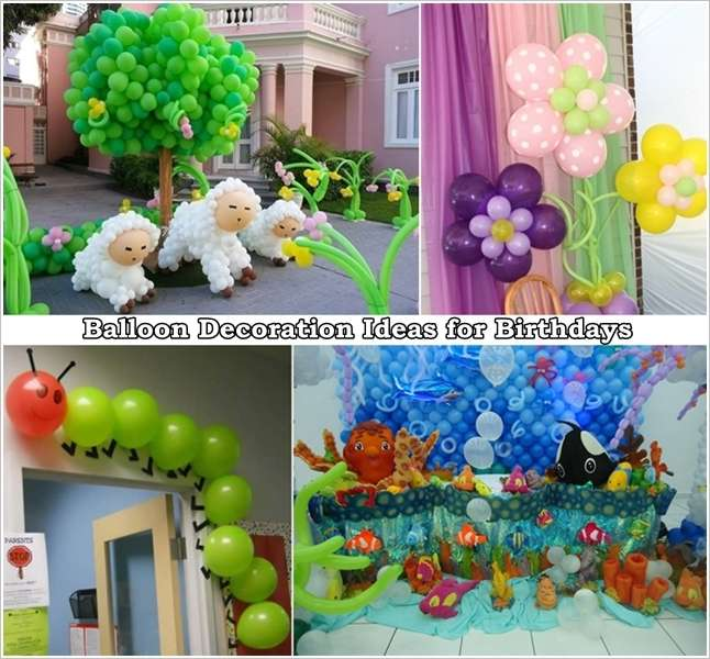 5 smashing balloon decoration ideas for kids birthday for Balloon decoration ideas diy