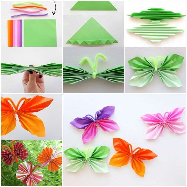 How Beautiful And Easy These Folded Paper Butterflies Are