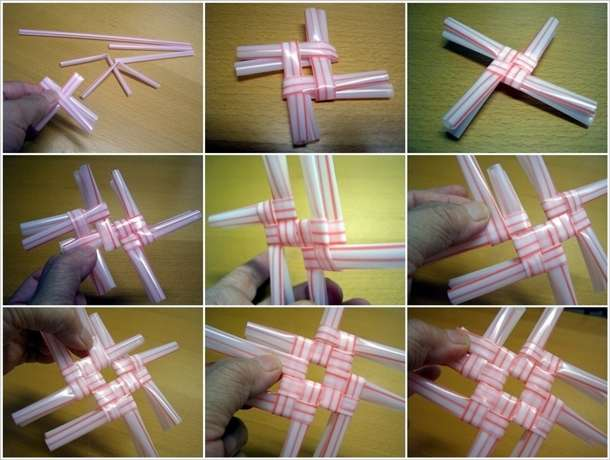 how to connect straws together