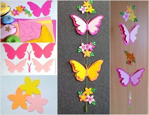 coloured paper craft ideas craft this adorable butterfly mobile for your room 3679