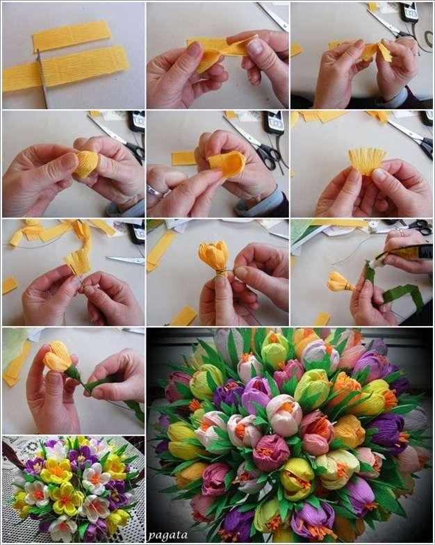 Как можно сделать цветок с руками
