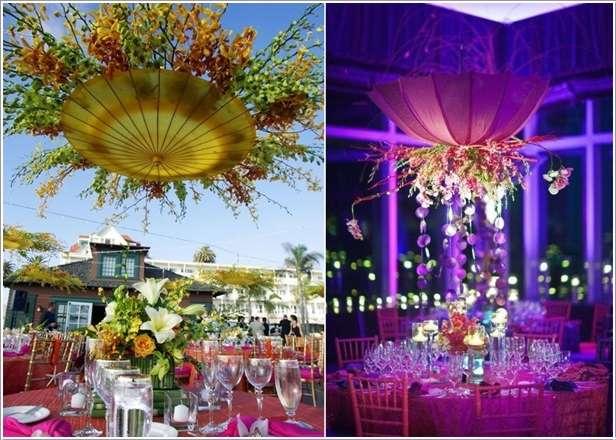 Amazing wedding decor ideas with umbrellas
