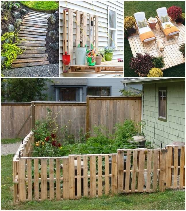 5 awesome ideas to use pallets for garden decor for Decorating ideas using pallets