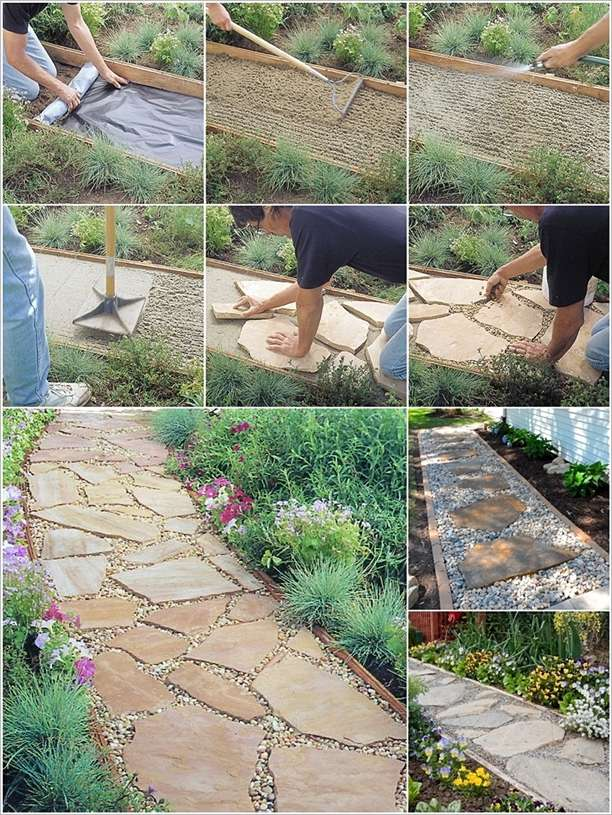 Installing A Flagstone Patio With Mortar: Install A Flagstone Path Like This To Beautify Your Garden