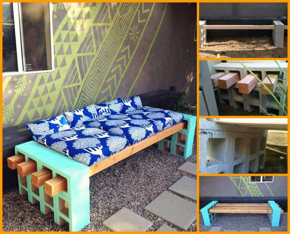 create your own cinder block bench