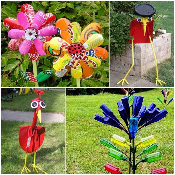 15 Creative Garden Ideas You Can Steal: 5 Amazing Garden Art Ideas From Recycled Materials