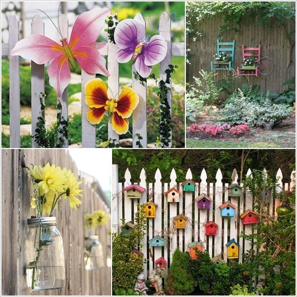 10 fabulous ideas to decorate your patio or garden fence for Decorating your garden fence