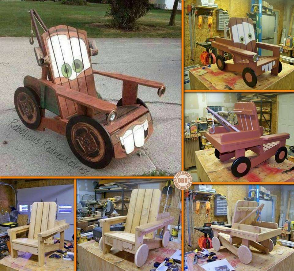 Diy Tow Mater Adirondack Chair