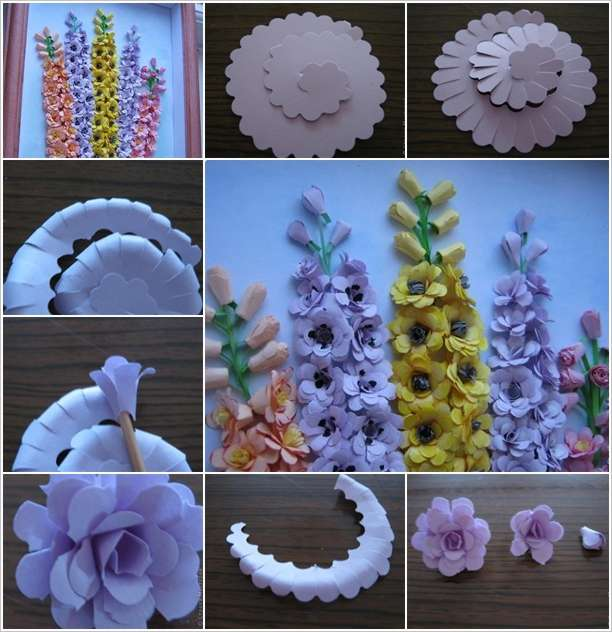 Craft this spectacular paper flower wall art mightylinksfo